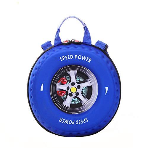 MountRise-Bags Ultraleichte süße Babytasche, 3D-Druck koreanischen Reifen Cartoon Kinderrucksack, geeignet für die Reise, zur Schule gehen, Geburtstagsgeschenk, Kindergarten,Blau