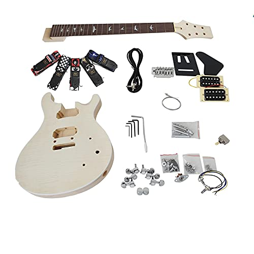 KEPOHK Madera maciza Custom 24 SE Diy Kit de guitarra eléctrica que...