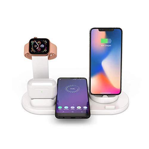 NeotrixQI 3 in 1 Wireless Ladestation Kompatibel mit AirPods iWatch Series 1 2 3 4, Air Pods Dock,Qi Schnellladestation für iPhone 11 Pro Max 8 X XR XS und Samsung Galaxy S10 Plus Note 8 S8 S9 (Weiß)
