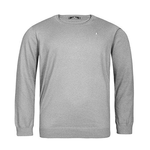 Ragman XXL Rundhals-Pullover hellgrau Melange, XL Größe:2XL