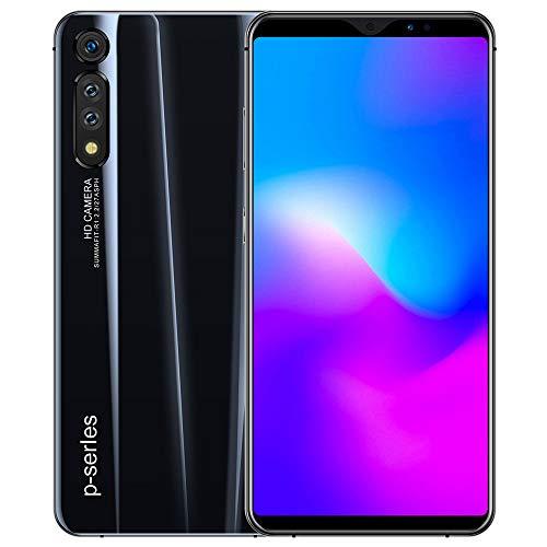 P41PRO HD+18:9LCD 전체 화면 휴대 전화 얼굴 인식 지문 잠금 해제 8G+128G 스마트 폰-검정색