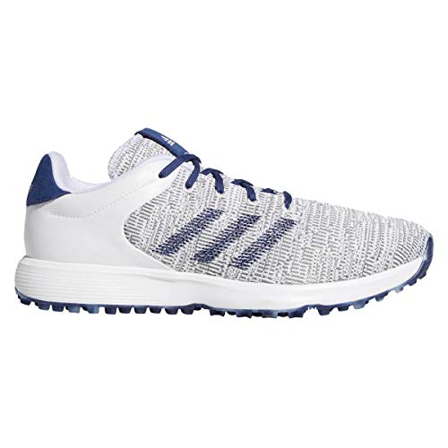Adidas Golf S2G Herren-Golfschuhe, leicht, wasserdicht, ohne Spikes, Herren, Weiß/Indigo/Grau, 8.5 UK/ EUR 42.7 / US 9