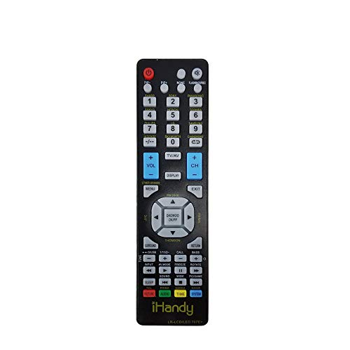 Affordable IHANDYTEC LR-LCDLED 707E+ TV Universal Remote Control - Perfect TV Replacement Remote for...