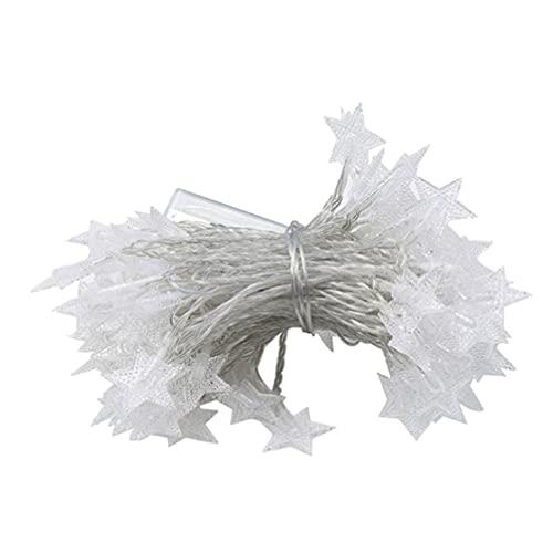 Veemoon Cadena de Estrellas Luces de Cadena de Hadas 50 Luces de Guirnalda LED para Decoración Romántica Fiesta de Vacaciones Boda Cumpleaños 6M