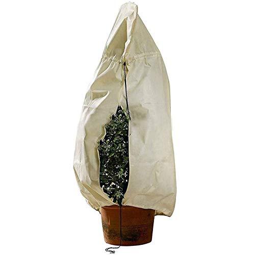 BZZBZZ Cubierta Protectora contra heladas de Plantas Cubierta de Nieve anticongelante de Tela no Tejida de PVC con cordón de Cremallera para Vegetales Arbusto de árboles (94'* 79')