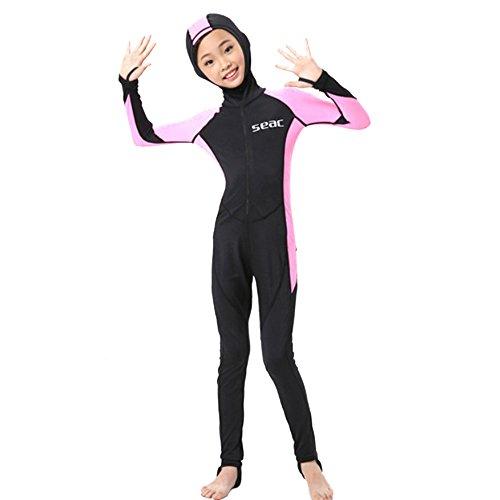 S023 S024 S025 S026 Kind Eendelig Duikpak 2.5mm Surfing Wetsuit meisje met capuchon