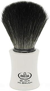 Omega 0196819 Black Hi-Brush - Brocha de afeitar (fibra)
