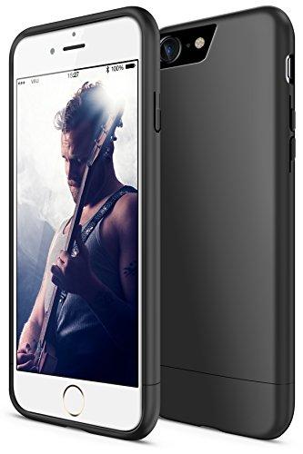 vau Snap Case Slider Hülle matt schwarz - zweigeteiltes Hard-Case kompatibel zu Apple iPhone 7/8 / iPhone SE (2020) Harte Handyhülle innen weich gefüttert