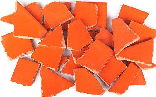 900g Bruchmosaik, Mosaikfliesen aus handgefertigten Fliesen - orange