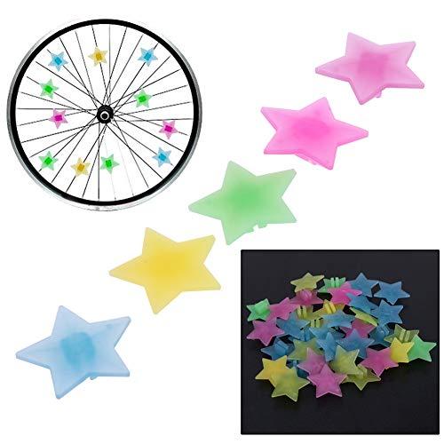 Broadroot sacchetto di plastica colorata Bike Wheel Spoke Beads bicicletta bambini Decor, STAR