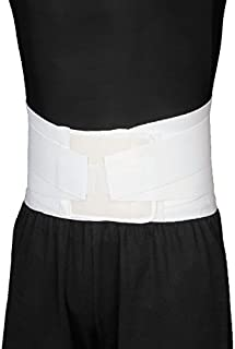 Blue Jay Back Support w/ Lumbar Tension Straps, White - Universal 24 in.-46 in. Lumbar Support Belt - Compression Strap for Back Pain Relief. Orthopedic Support