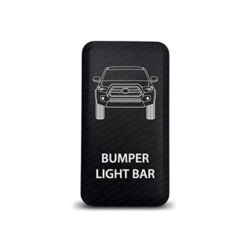 CH4X4 Push Switch for Toyota Tacoma 3rd Gen - Bumper Light Bar Symbol - Blue LED