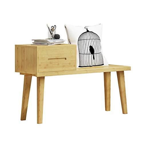 Fußhocker Holz Schublade Schuhablage Sitzbank Entryway Bank Organizer Fußbank Fensterbank Für Entryway Wohnzimmer (Farbe, Size : 100x31x62cm)