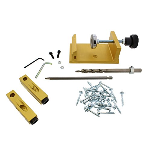 DCT Pocket Hole Jig Clamp Joinery System 42pc Kit for Corner, Angle, Flush Pocket Hole Joints Clamping Carpentry Locator