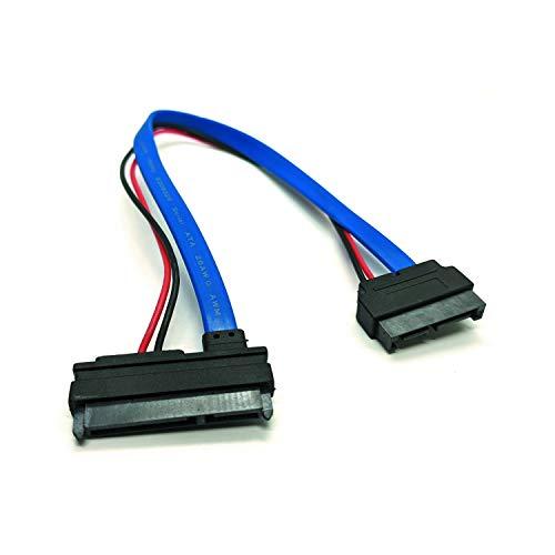 30cm SATA 7+15 22P (F) zu 7+6 13P (M) Slimline Kabel, Adapter für Notebook DVD-Laufwerk auf Festplatte