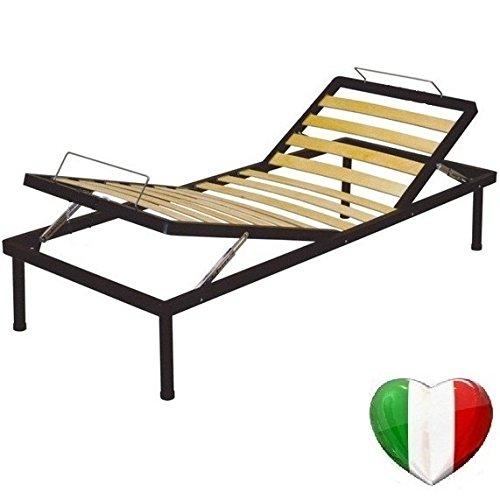 VIta - VALORE ITALIA Rete A DOGHE Letto 80X190 Singola RECLINABILE Alzata Testa ALZAPIEDI Manuale