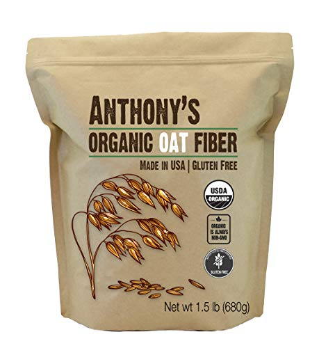 Anthony's Organic Oat Fiber, 1.5lb, Gluten Free, Non GMO, Keto Friendly, Product of USA