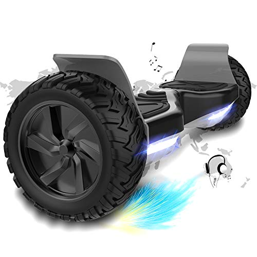 COLORWAY 8,5 Zoll Hover Scooter Board Elektro Scooter Hoverboard Smart Scooter Self Balance Board - Bluetooth - LED Räder - 350W*2 Motor - All Terrain Off Road Riefen