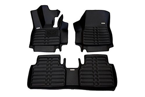 TuxMat Custom Car Floor Mats for BMW i3 2014-2020 Models- Laser Measured, Largest Coverage, Waterproof, All Weather.The BestBMW i3 Accessory. (Full Set - Black)