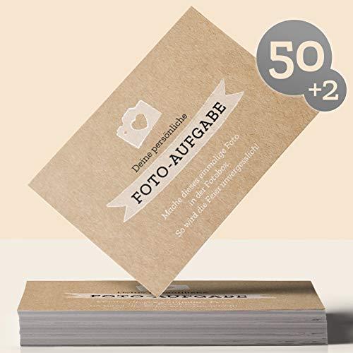 Fotospiel: 50 Fotoaufgaben für die FOTOBOX + 2 Blanko Fotokarten – für die unvergessliche Feier und Gäste, die sich ungezwungen kennenlernen