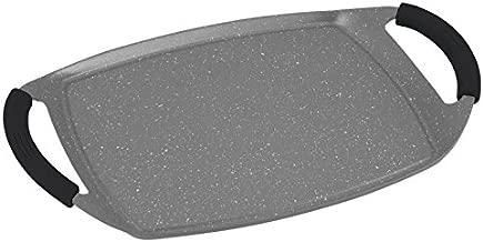 Royal Crown plancha de induccion con revestimiento de piedra 47cm RC-GPSC47GR Alta Calidad (Gris)