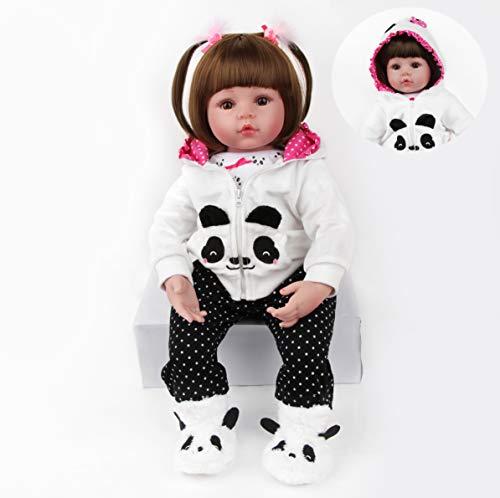 ZIYIUI 19 Pollici 47 CM Bambola Reborn Realistico Vinile Silicone Morbido Simulazione Bambino Bambole Reborn Femmina Toddler Babies Reborn Baby Doll Regalo di Compleanno Giocattoli Magnetico