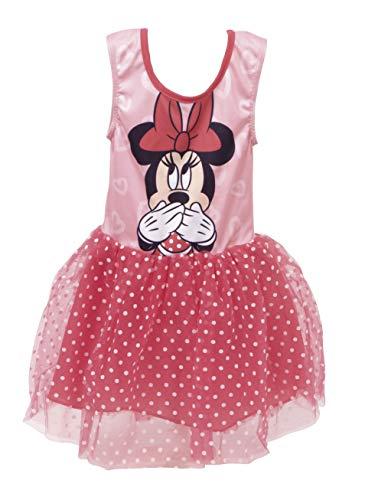Disney, Minnie Mouse, meisjesjurk met korte mouwen, leuke 3D-ballettje, tule rok, kinderverjaardagsfeest, kostuum, casual mouwloze zomer prinsesjurk, 2 tot 6 jaar