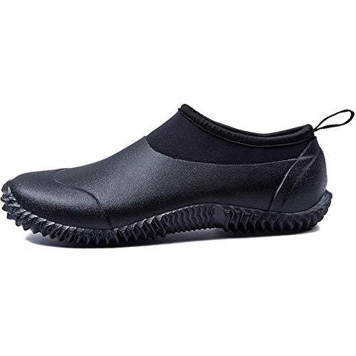 FREEUP Botas de Goma para Mujer Seguridad Zapatillas de Neopreno con Suela Corta a Prueba de Agua Lavado de Autos Calzado,Black,42EU