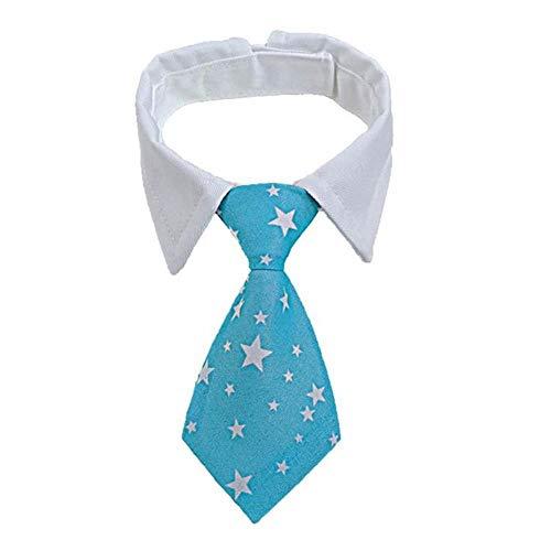 Markko Hunde-Krawatte, gestreift, mit Fliege, verstellbar, für Party, Hochzeit, 12 / S / 32 cm