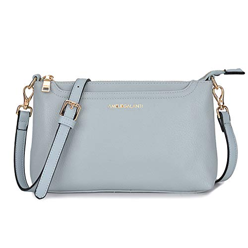 Crossbody Bags for Women, Lightweight Purses and Handbags PU Leather Small Shoulder Bag Satchel with Adjustable Strap (L blue)