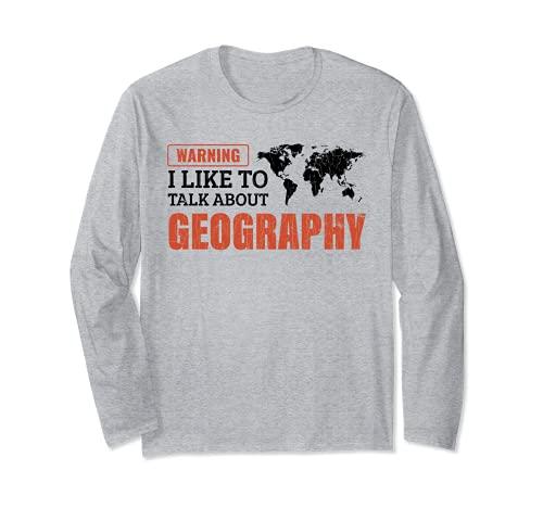 Mi piace parlare di geografia Regalo per l'insegnante Maglia a Manica