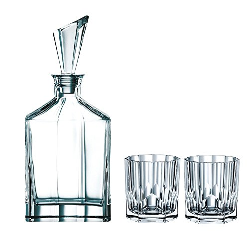 Spiegelau & Nachtmann, 3-teiliges Whisky-Set, Dekanter+ 2x Whisky-Becher, Aspen, 90024