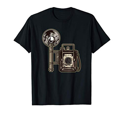 Cámara analógica retro con flash - fotografía Camiseta