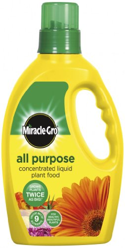 MIRACLE-GRO ALL PURPOSE LIQUID PLANT FOOD CONCENTRATED FERTILISER 1L 9...
