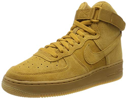 Nike Herren Air Force 1 High LV8 Gs 807617-701 Fitnessschuhe, Mehrfarbig (Wheat/Wheat/Gum Light Brown 701), 39 EU