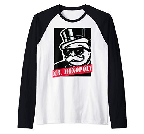 Monopoly Mr. Monopoly Graphic Poster Camiseta Manga Raglan