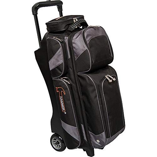 Hammer Premium Triple Roller Bowlingtasche schwarz/carbon (Renewed)