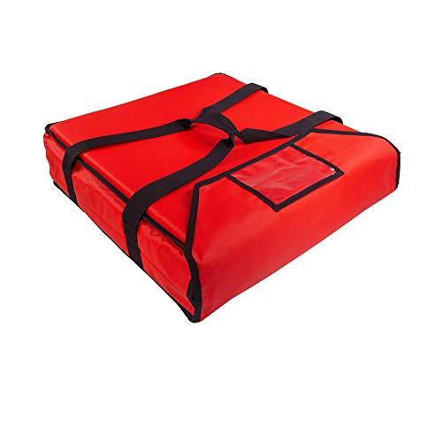 PizzaBag, Premium Pizza-Liefertasche für Lieferdienste (50 * 50 * 12 cm, Rot)