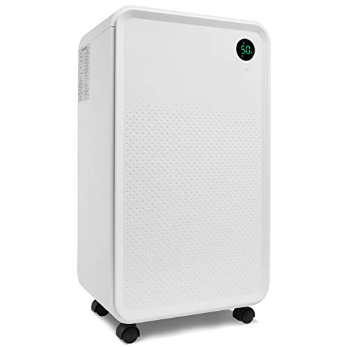 ZZYH 3000 Sq Ft Dehumidifier with 2L Water Tank, Auto or Manual Drain, 30 Pint Dehumidifiers, for Medium to Large Rooms and Basements, Quiet Operation/Continous Drain with Hose(Included)