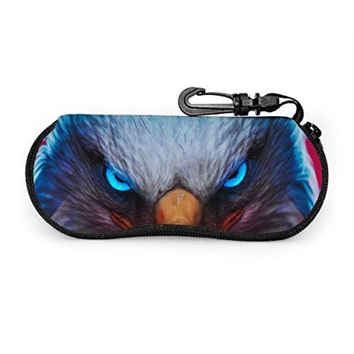Eagle Glowing Angel Eyes Fall Anti-Shock Reißverschluss Sonnenbrille Beutel Brille Tasche Koffer Box Holder