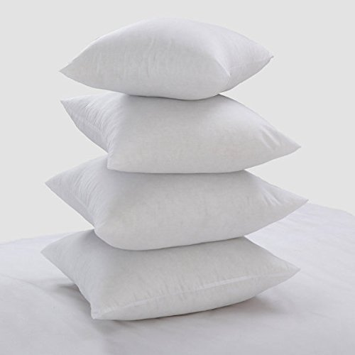 Lancashire Textiles Limited Manufacturers of quilts, pillows and homewares 4 Pack Luxury 18' x 18' Cotton Blend Cushion Pads with Bounce Back Polyester Fibre