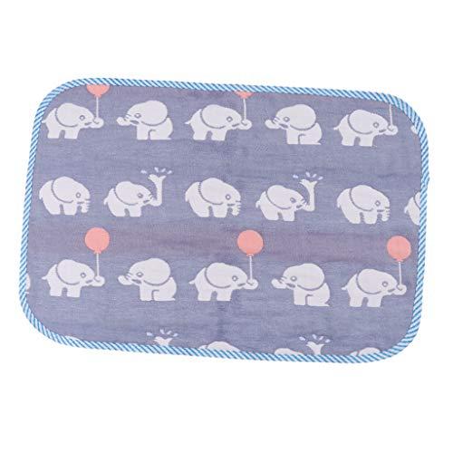 SM SunniMix Decoración de La Habitación de Los Juguetes Educativos Del Cojín Del Pañal Del Bebé de La Estera Impermeable - Elefante azul 30x45cm, como se describe