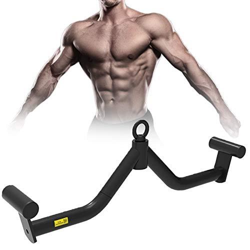 LXNQG Pull-down V-bar Riemenscheibe Kabelmaschine Anbaugeräte, Pulldown V-Bar für Bizeps Trizeps, LAT Pulldown Bar Rücken Krafttraining Griff Home Gym Fitness Rudern (Size : 83cm)