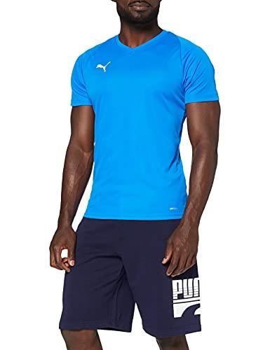 PUMA Liga Jersey Core, Maglia Calcio Uomo, Blu (Electric Blue Lemonade/White), L