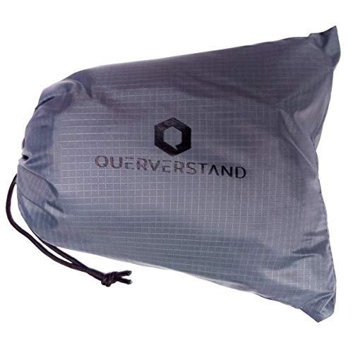 Querverstand Campingdecke 200x200 cm faltbar - Kompakte XXL Picknickdecke für 4 Personen mit praktischer Tasche - wasserdicht, federleicht und platzsparend (200x200cm, Grau)