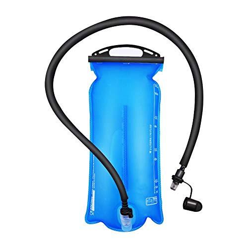 ZSZ Vejiga del Agua de hidratación Bolsa de Agua Inodoro embalse de Almacenamiento de la Bolsa Plegable Paquete for el Ciclismo de montaña Que recorre Botella Que Sube FAG-23 (Color : Blue)