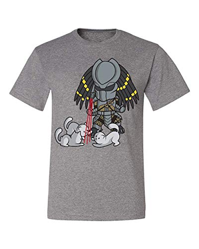 Predator Cat Laser Sight Adult T-Shirt, Grey, Small