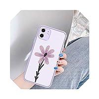 Chnanファッションフラワーアート電話ケースFor iPhone7 11 Pro XS MAX X SE 2020 X XR 6 8Plusフローラル耐衝撃マットバックカバーFundas-Style 1-For iPhone 6 6s plus