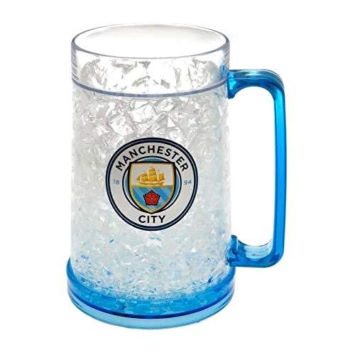 Manchester City FC Offizieller Fußball-Gefrierschrank-Krug (Einheitsgröße) (Klar/Hell Blau)