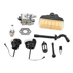 MS250 Carburetor for STIHL 021 023 025 MS20 MS230 MS250 easy start version Chainsaw MS250 Carburetor Replace # WT-286 Package including 1 carburetor + 1 gasket + 1 oil filter + 1 oil pipe + 1 fuel filter +1 fuel pipe + 1 spark plug + 1 air filter wit...